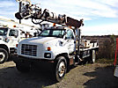Altec D845-AT, Digger Derrick center mounted on 1997 GMC C7500 Utility Truck