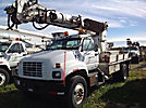 Altec D845-AT, Digger Derrick center mounted on 1998 GMC C7500 Utility Truck