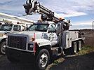 Altec D845-ATC, Digger Derrick corner mounted on 2002 GMC C8500 T/A Utility Truck