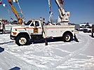 Altec D845-ATR, Digger Derrick, rear mounted on, 1996 Ford F800 Utility Truck
