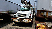 Altec D845-ATR, Digger Derrick, rear mounted on, 2000 Chevrolet C8500 Flatbed/Utility Truck