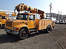 Altec D845-BC, Digger Derrick, corner mounted on, 2002 International 4700 Utility Truck
