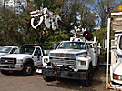 Altec D845-BR, Digger Derrick, rear mounted on, 1991 Ford F800 Utility Truck