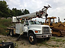 Altec D845-TR, Digger Derrick, rear mounted on, 1996 Ford F800 Flatbed/Utility Truck