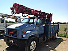 Altec D845-TR, Digger Derrick, rear mounted on, 2000 GMC C7500 Utility Truck