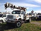 Altec D845A-TR, Digger Derrick center mounted on 2000 International 4800 4x4 Utility Truck