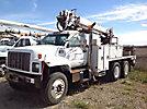 Altec D845A-TR, Digger Derrick corner mounted on 2002 GMC C8500 T/A Utility Truck