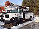 Altec D845A-TR, Digger Derrick rear mounted on 2000 International 4800 4x4 Flatbed Truck