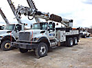 Altec D845A-TR, Digger Derrick rear mounted on 2009 International 7400 T/A Flatbed Truck