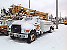Altec D847-TR, Digger Derrick, rear mounted on, 1998 Ford F800 Utility Truck