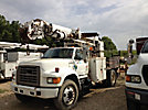 Altec D945-BR, Digger Derrick, rear mounted on, 1996 Ford F800 Flatbed/Utility Truck
