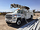 Altec D945-BR, Digger Derrick rear mounted on 1991 Ford F800 Utility Truck