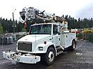 Altec D945-BR, Digger Derrick rear mounted on 1998 Freightliner FL70 Utility Truck