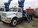 Altec D945-TB, Digger Derrick, mounted behind cab on, 2002 International 4900 T/A Flatbed Truck