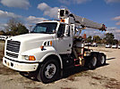 Altec D945-TB, Hydraulic Crane mounted behind cab on 2000 Ford A9500 T/A Truck Tractor