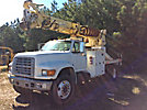 Altec D945-TR, Digger Derrick, rear mounted on, 1995 Ford F800 Flatbed/Utility Truck