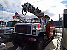 Altec D945-TR, Digger Derrick, rear mounted on, 2001 GMC C8500 Flatbed Truck