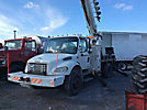 Altec D945-TR, Digger Derrick, rear mounted on, 2004 Freightliner M2-106 Flatbed/Utility Truck