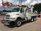 Altec D945-TR, Digger Derrick rear mounted on 2001 Sterling M8500 T/A Flatbed/Utility Truck