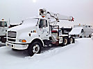 Altec D945-TR, Hydraulic Crane, mounted behind cab on, 1999 Sterling Acterra T/A Truck Tractor