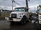 Altec D947-BR, Digger Derrick, rear mounted on, 2000 Freightliner FL80 4x4 Flatbed/Utility Truck