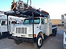 Altec D947-BR, Digger Derrick rear mounted on 1999 International 4700 Flatbed/Utility Truck