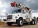 Altec D947-BR, Digger Derrick rear mounted on 2003 Freightliner FL80 T/A Flatbed/Utility Truck