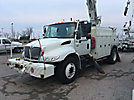 Altec D947-TC, Digger Derrick, corner mounted on, 2004 International 4400 Utility Truck