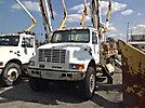 Altec D947-TR, Digger Derrick, rear mounted on, 2000 International 4800 4x4 Flatbed Truck