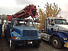 Altec D947-TR, Digger Derrick, rear mounted on, 2001 International 4700 Flatbed/Utility Truck
