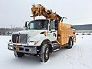 Altec D947-TR, Digger Derrick, rear mounted on, 2002 International 7400 Flatbed/Utility Truck
