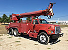Altec D947-TR, Digger Derrick rear mounted on 1997 Ford FT900 T/A Flatbed/Utility Truck