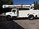 Altec D947T, Digger Derrick, rear mounted on, 2001 International 4900 Utility Truck