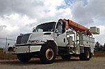 Altec DL42-BB, Digger Derrick, mounted behind cab on, 2006 International 4300 Flatbed/Utility Truck