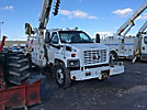 Altec DL45-BR, Digger Derrick, rear mounted on, 2004 GMC C8500 Flatbed/Utility Truck