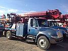 Altec DL45-TR, Digger Derrick rear mounted on 2004 International 4300 Flatbed/Utility Truck