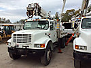 Altec DM45-BC, Hydraulic Crane, corner mounted on, 2002 International 4700 Extended-Cab Utility Truck