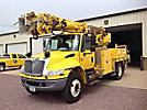 Altec DM45-BR, Digger Derrick center mounted on 2006 International 4400 Utility Truck