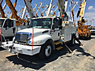 Altec DM45-BR, Digger Derrick rear mounted on 2006 International 4300 Utility Truck