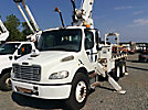 Altec DM45-TB, Hydraulic Crane, mounted behind cab on 2007 Freightliner M2-106 T/A Flatbed Truck,