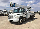Altec DM45-TR, Hydraulic Crane center mounted on 2007 Freightliner M2 106 Flatbed/Utility Truck