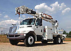 Altec DM47-BB, Digger Derrick, rear mounted on, 2007 International 4300 Flatbed Truck