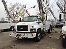 Altec DM47-BR, Digger Derrick, rear mounted on, 2005 Chevrolet C7500 Utility Truck