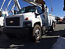 Altec DM47-BR, Digger Derrick, rear mounted on, 2006 Chevrolet C7500 Flatbed/Utility Truck
