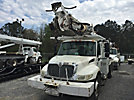 Altec DM47-BR, Digger Derrick, rear mounted on, 2007 International 4300 Flatbed/Utility Truck