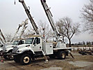 Altec DM47-BR, Digger Derrick, rear mounted on, 2007 International 7300 4x4 Flatbed/Utility Truck