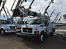 Altec DM47-BR, Digger Derrick, rear mounted on, 2008 Chevrolet C7500 Flatbed/Utility Truck