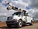 Altec DM47-BR, Digger Derrick, rear mounted on, 2008 International 4300 DuraStar Utility Truck