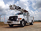 Altec DM47-BR, Digger Derrick rear mounted on 2007 Ford F750 Utility Truck