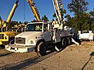 Altec DM47-TR, Digger Derrick, rear mounted on, 1999 Freightliner FL80 T/A Flatbed/Utility Truck